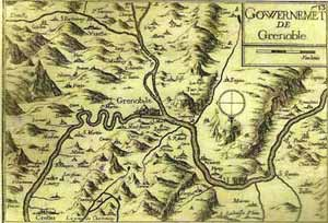 carte ancienne grenoble